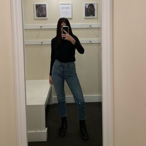 """Madewell Classic Straight Jeans.  11"""" rise size 24"""